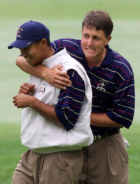 Friends and Legends Tiger Woods and Mickelson