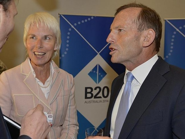 Gail Kelly With Prime Minister Tony Abbott