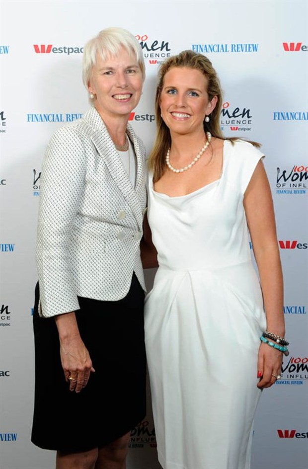 Gail Kelly With Sophie Ryan , CEO Of Sony Foundation Australia