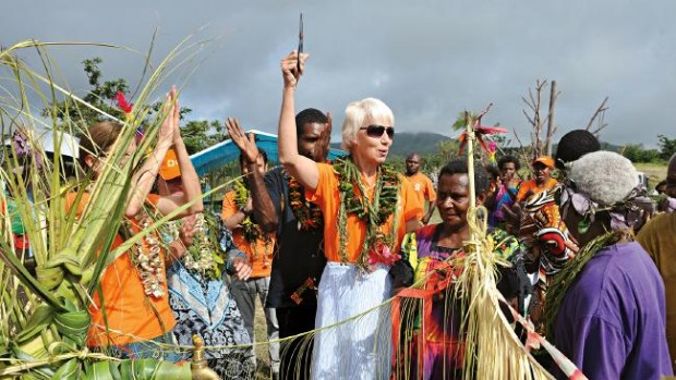 Gail Kelly in Vanuatu