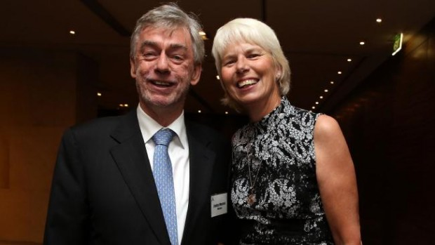 Gail Kelly With Westpac chairman Lindsay Maxsted