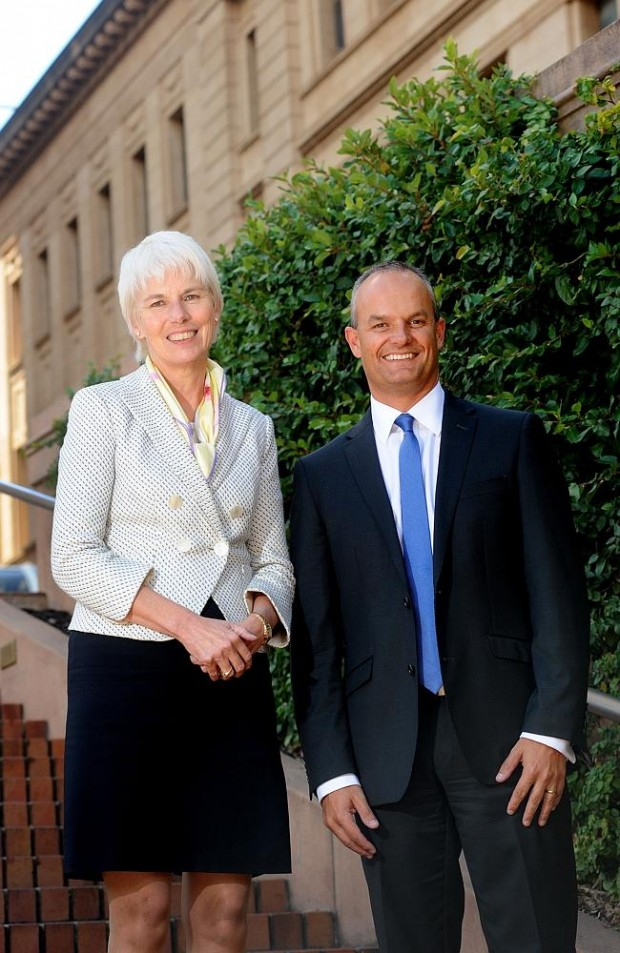 Gail Kelly With new BankSA managing director Nick Reade