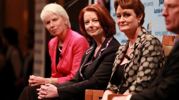 Gail Kelly With Prime Minister Julia Gillard
