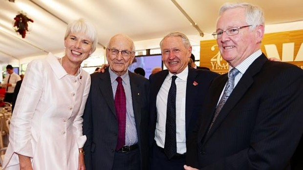 Gail Kelly With John Uhrig, David Morgan and Frank Conroy.