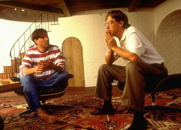 Steve Jobs with Bill Gates