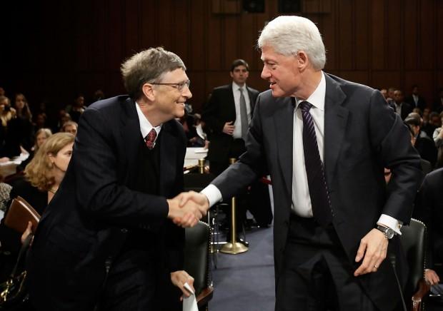 Bill Clinton and Bill Gates