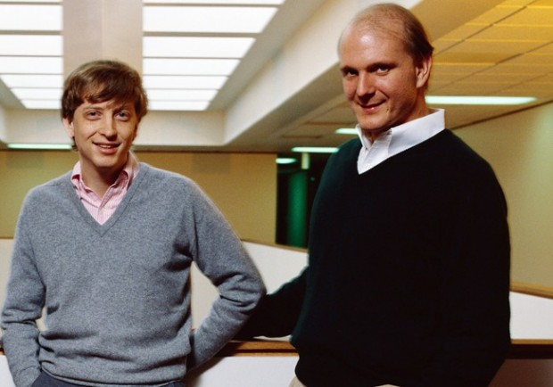 Bill Gates with Steve Ballmer in 1980's