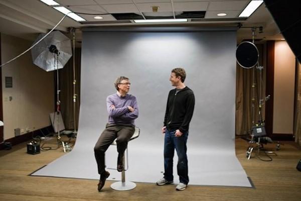 Facebook Founder Mark Zuckerberg with Bill Gates