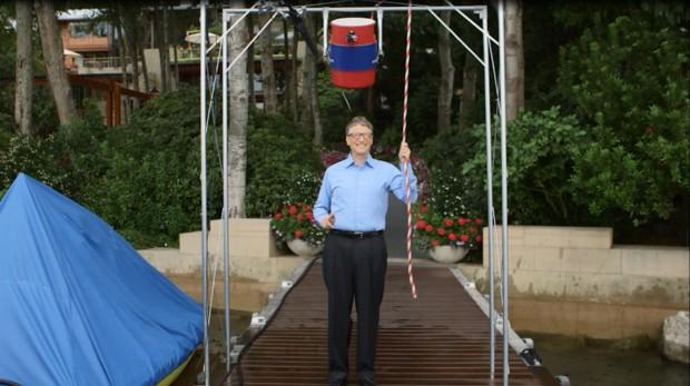 Bill Gates taking ALS Ice Bucket Challenge