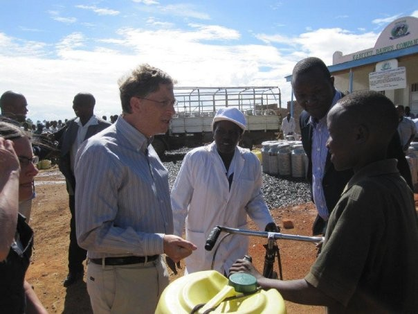 Bill Gates during his Africa Tour