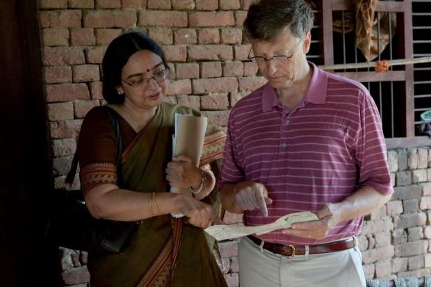 Gates in his India tour