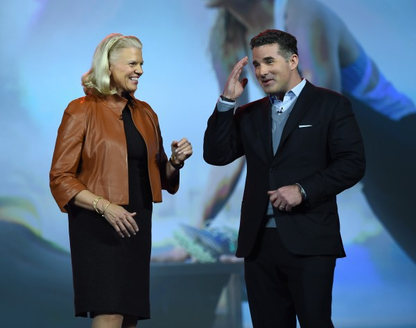 Ginni Rometty with Under Armour founder Kevin Plank