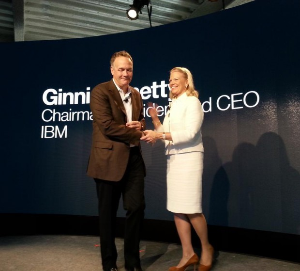 Ginni Rometty and Mike Rhodin