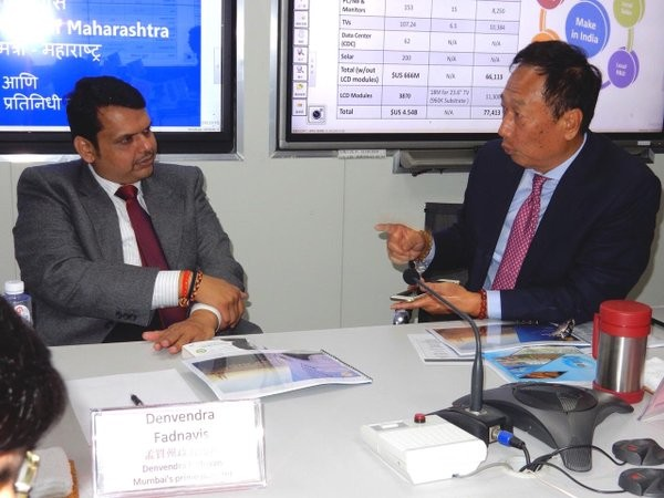 Indian State Maharashtra Chief Minister in conversation with Terry Gou