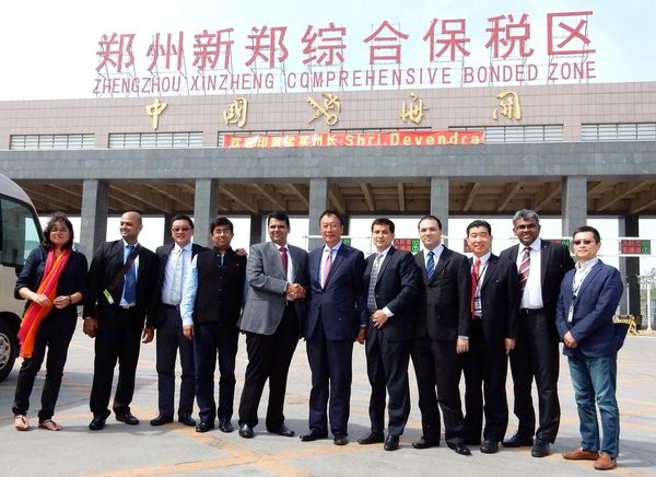 Terry Gou and his team with Fadnavis