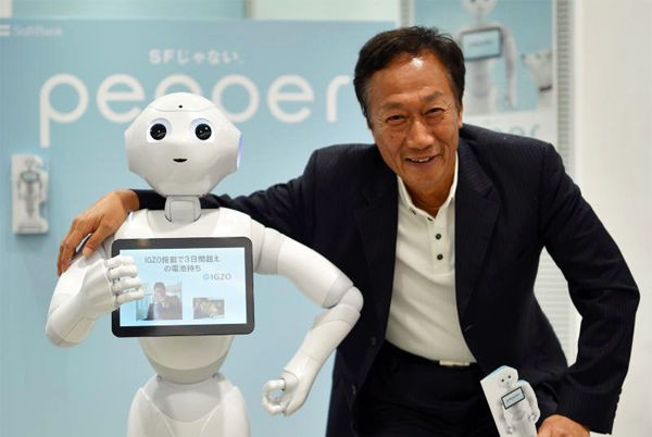 Terry Gou with Pepper