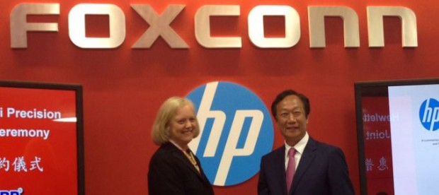 HP CEO, Meg Whitman with FOXCONN CEO, Terry Gou