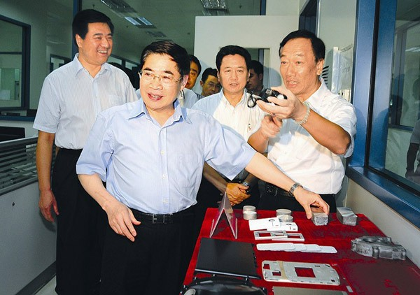Terry Gou at Foxconn Taiyuan Science and Technology Industrial Park