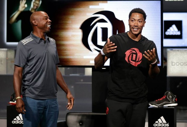 Derrick Rose with Greg Anthony