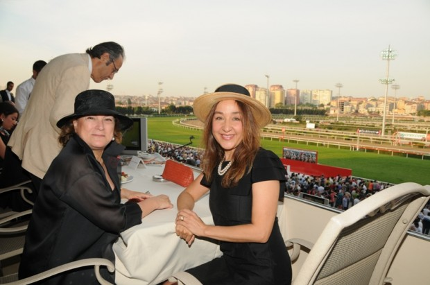 Güler Sabanci With Esra Çalcolu at Jockey Club of Turkey