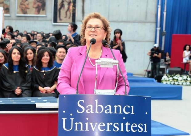 Güler Sabanci Giving Speech at Sabanci University