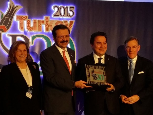 Guler Sabanci With Deputy Prime Minister of Turkey Ali Babacan