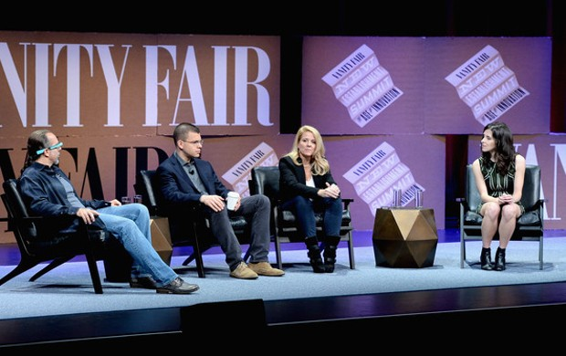 Gwynne Shotwell With Scientist and Author Astro Teller, Paypal Inc. Co-Founder Max Levchin and The Information Founder, Editor in Chief Jessica Lessin