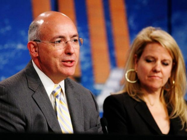 Gwynne Shotwell With NASA space station program manager Mike Suffredini