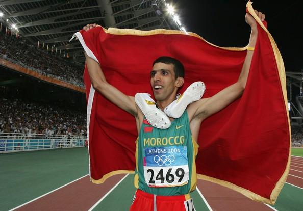 Hicham El Guerrouj at 2004 Summer Olympics in Athens