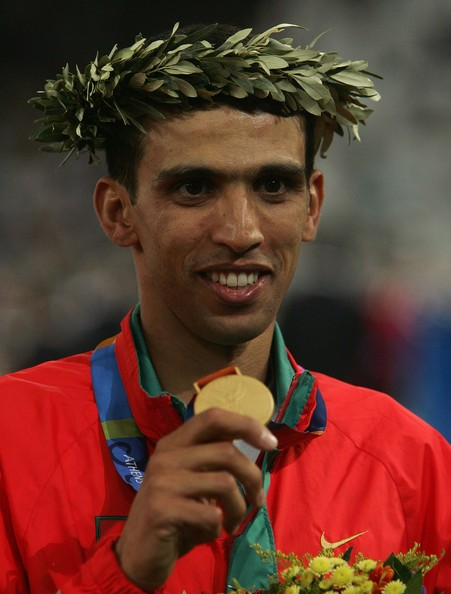Hicham El Guerrouj with his Olympic Gold Medal