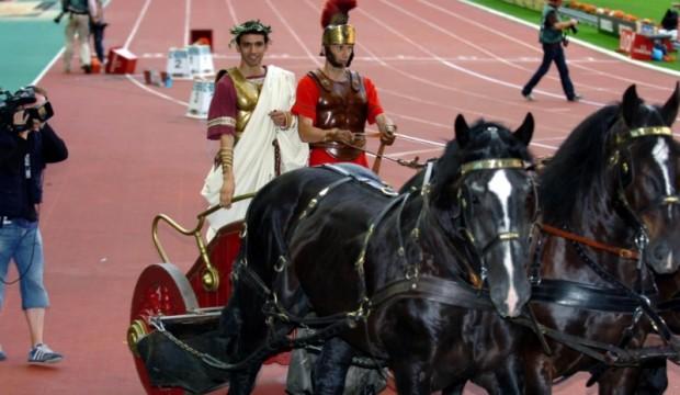 Hicham El Guerrouj on a horse ride