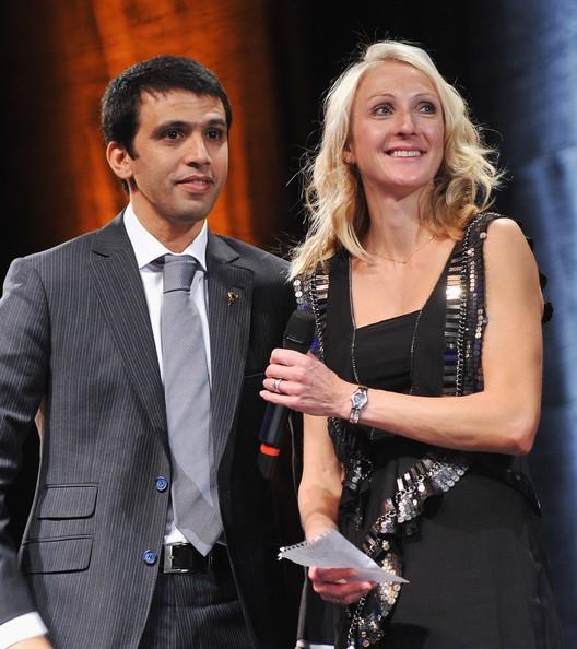 Hicham El Guerrouj and Paula Radcliffe