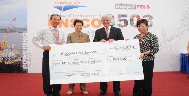 Ho Ching With Dr Lee Boon Yang,Mr Dan Rabun and Ms Morene Sim