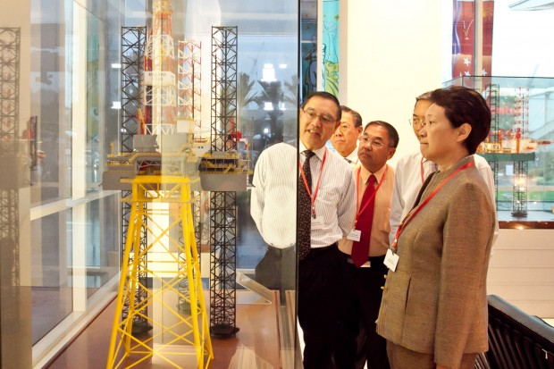 Ho Ching With Mr Choo Chiau Beng Chairman and CEO of Keppel Corporation