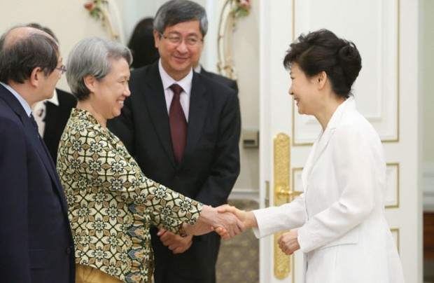Ho Ching With Park Geun-hye President of South Korea