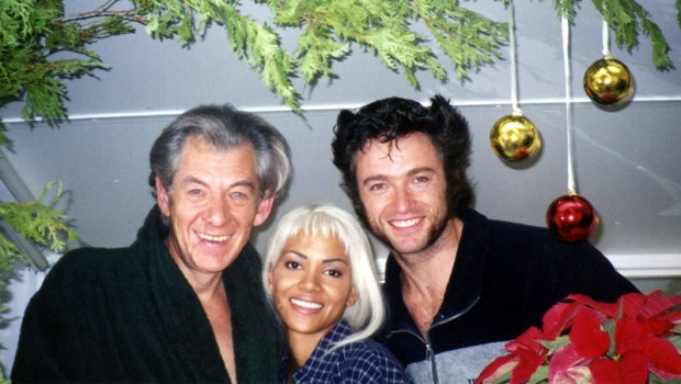 Magneto Ian McKellen with Storm Halle Berry and Wolverine Hugh Jackman