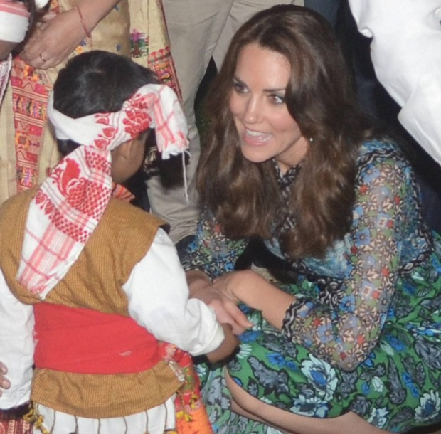 Kate Middleton with an Indian Kid