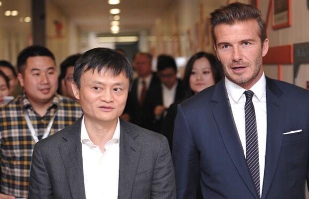 Jack Ma with Football Player David Beckham