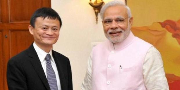 Jack Ma with Indian Prime Minister Narendra Modi
