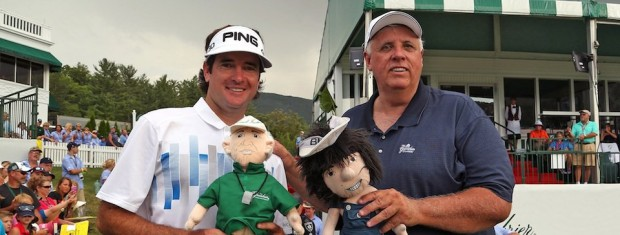 Bubba Watson with Jim Justice