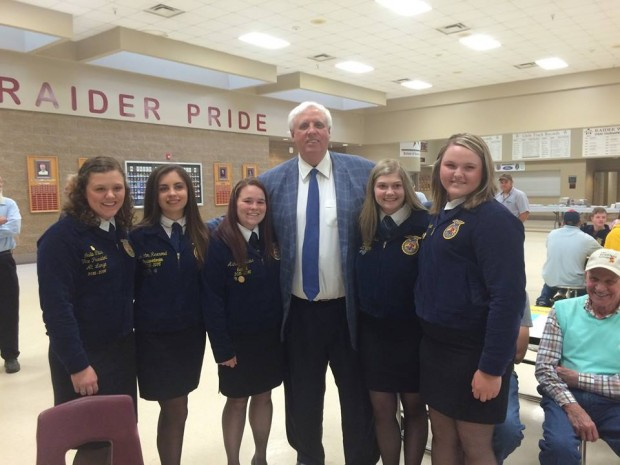 Jim Justice at Roane County FFA