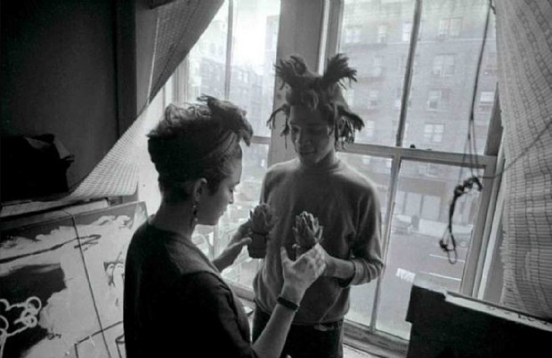 Jean Michel Basquiat and Madonna