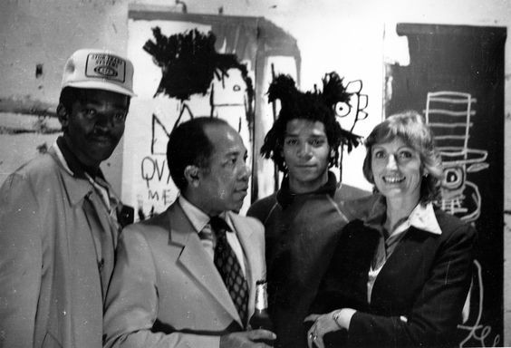Jean-Michel Basquiat in his Crosby Street Studio with Fab-5-Freddy, Gerard Basquiat, and Nora Fitzpatrick