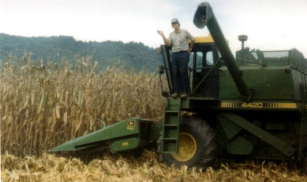 Jim on a Harvester