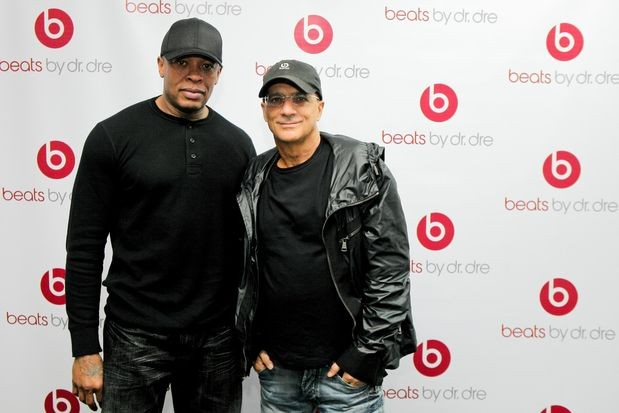 Jimmy Lovine with Dr. Dre
