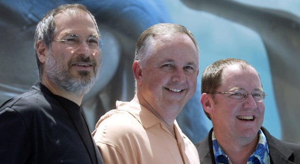 Steve Jobs with Cook and John Lasseter