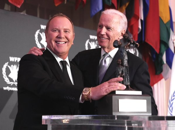 Michael Korse with Joe Biden at McGovern-Dole Leadership Awards