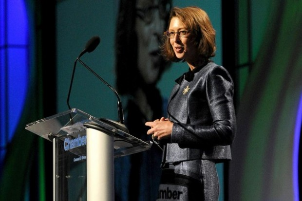 Abigail Johnson with at the Boston Chamber of Commerce