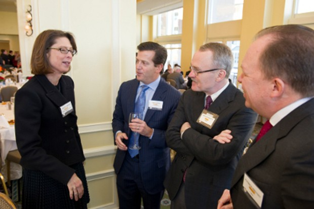 Abigail Johnson with Eric Slifka,Ronald Sargent and Patrick Prevost