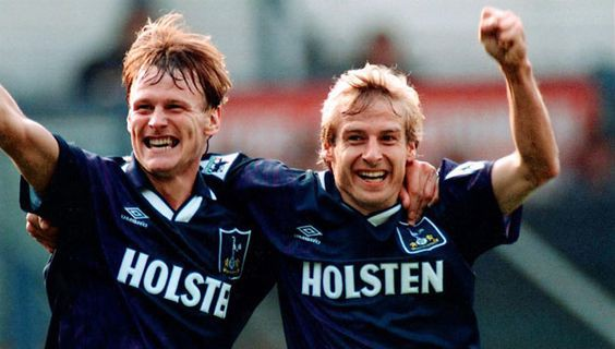 Teddy Sheringham and Jürgen Klinsmann
